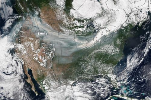 Smoke across the US