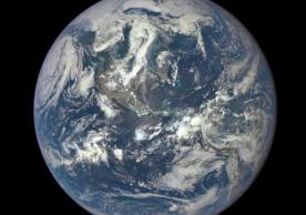 Earth as seen on July 6, 2015 from a distance of one million miles by a NASA scientific camera aboard the Deep Space Climate Observatory spacecraft
