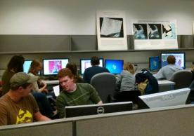 Students working in the YCEO Lab